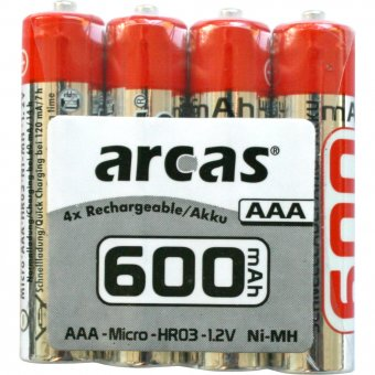 Arcas Akku-Pack AAA 600mAh Ni-MH