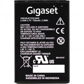 Gigaset SL750H / SL610H / SL450H / SL400H Akku X445 Li-Ion Batterie